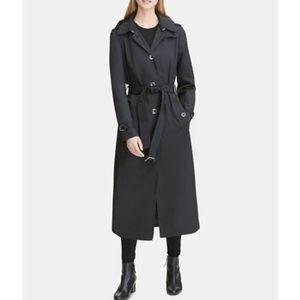 Macy's DNY Belted Maxi raincoat/trench coat